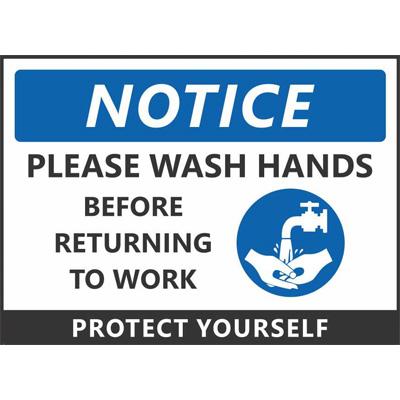 wash hands signage